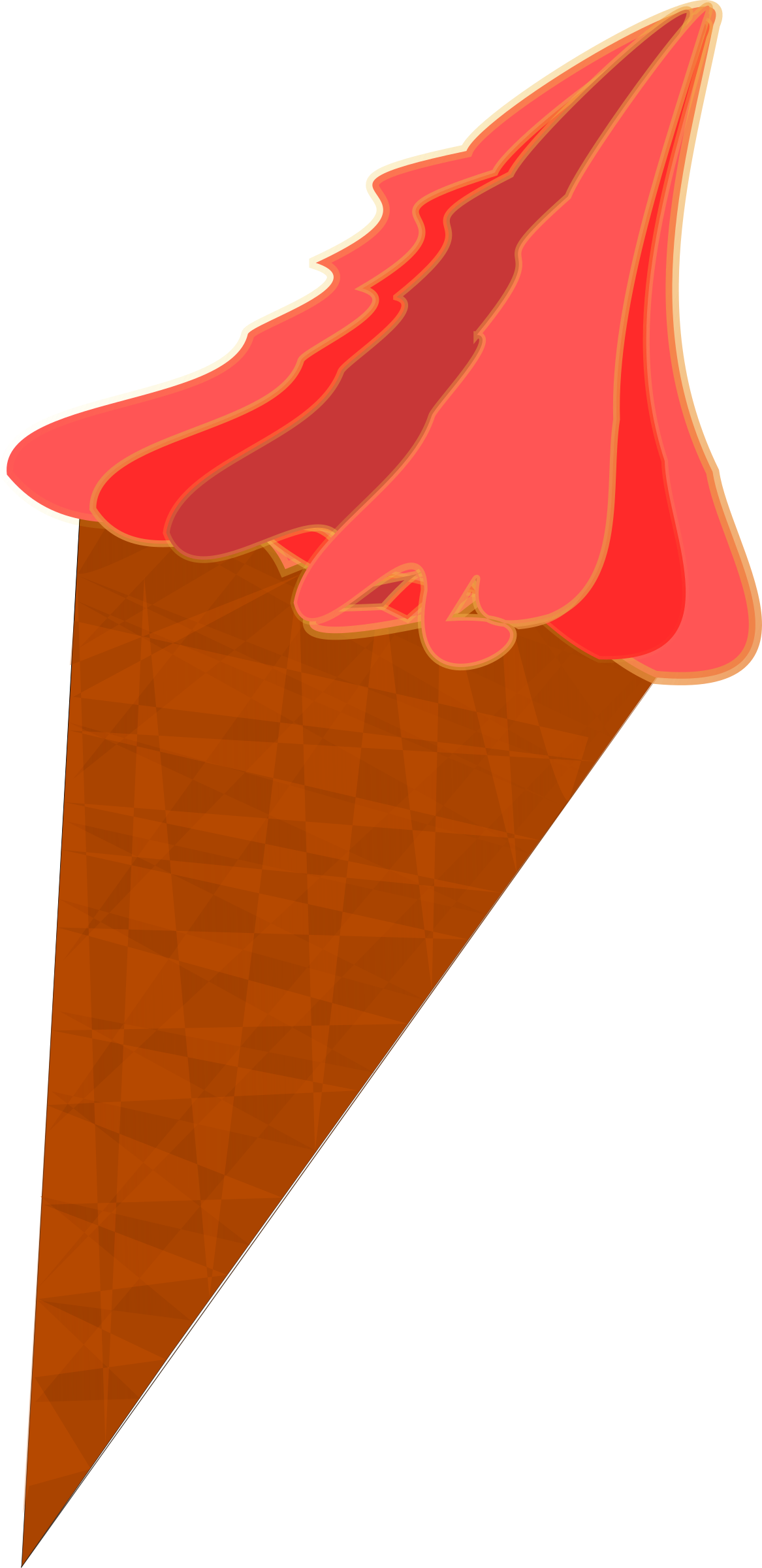 Wild berry cone big. Moving clipart ice cream