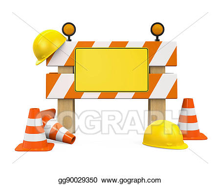 Stock illustrations under traffic. Construction clipart barrier