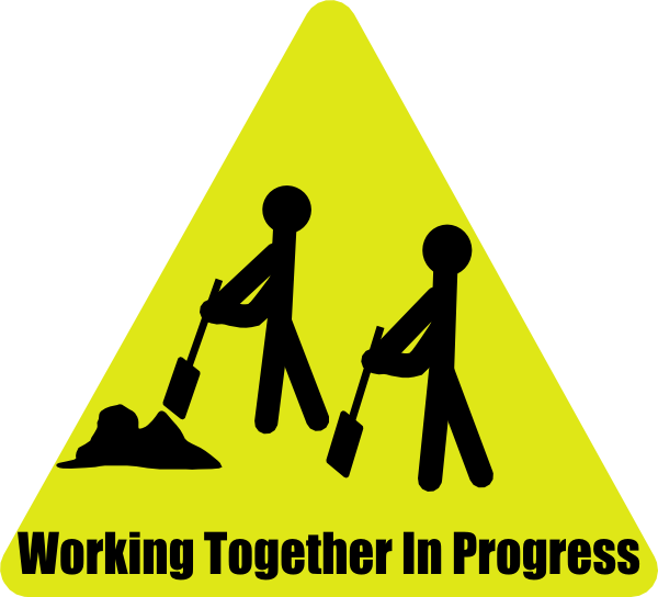 Working clipart work order. Together in progress clip