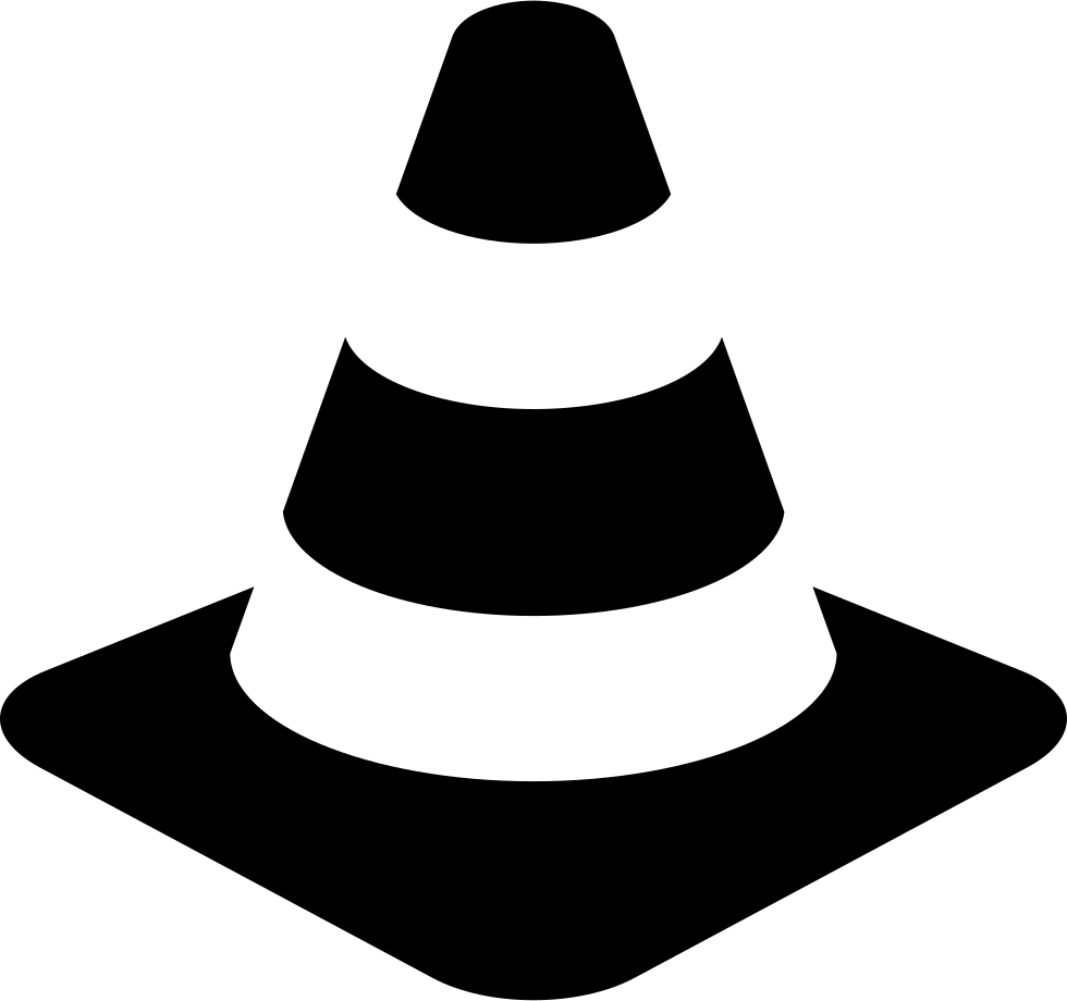 Cone clipart safety cone. Traffic svg png icon