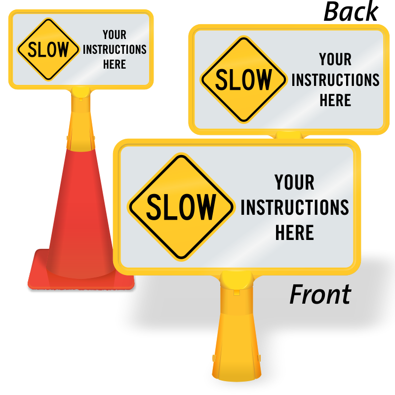 Cone clipart safety cone. Coneboss parking signs for