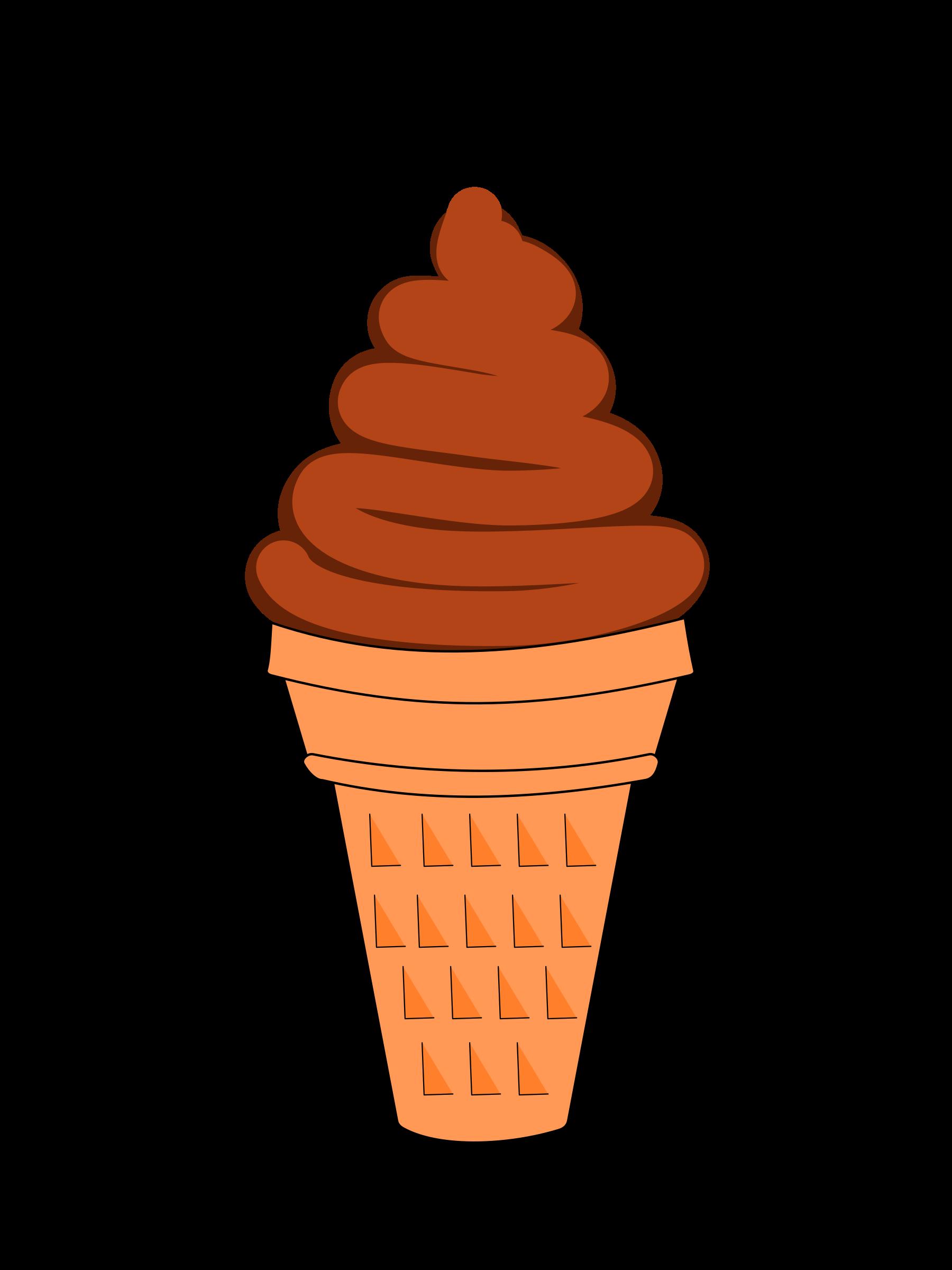 Chocolate soft serve big. Desserts clipart animation