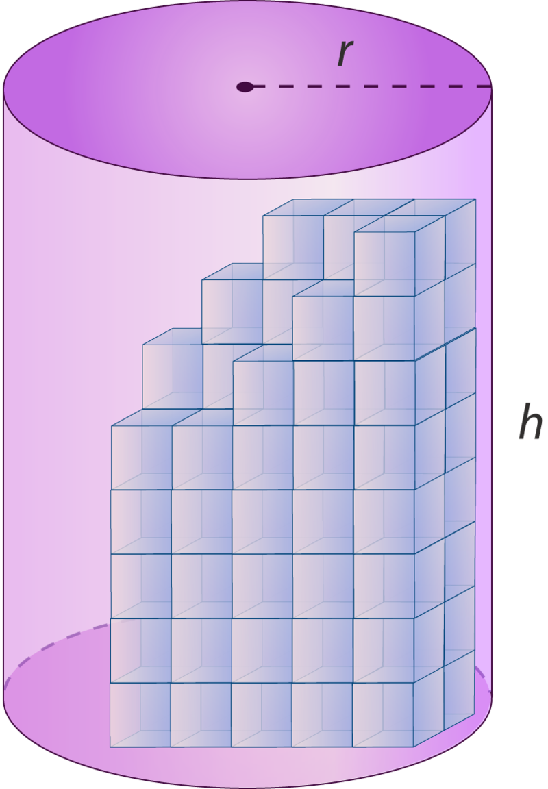 Volume of cylinders ck. Cone clipart tall