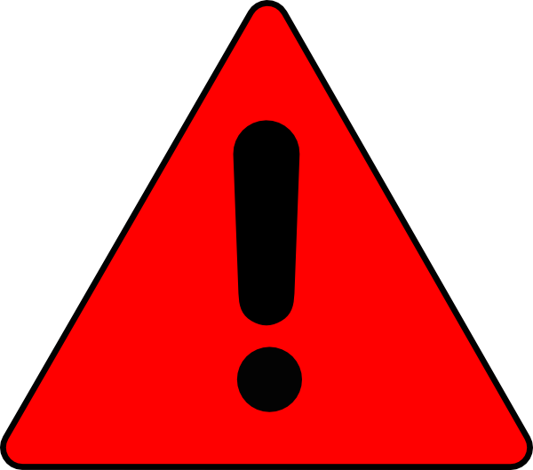 Triangle clip art at. Triangular clipart warning