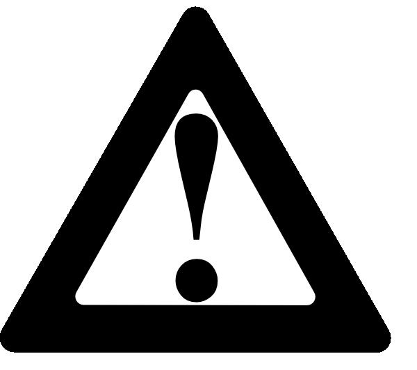 Cone clipart warning. Black clip art at