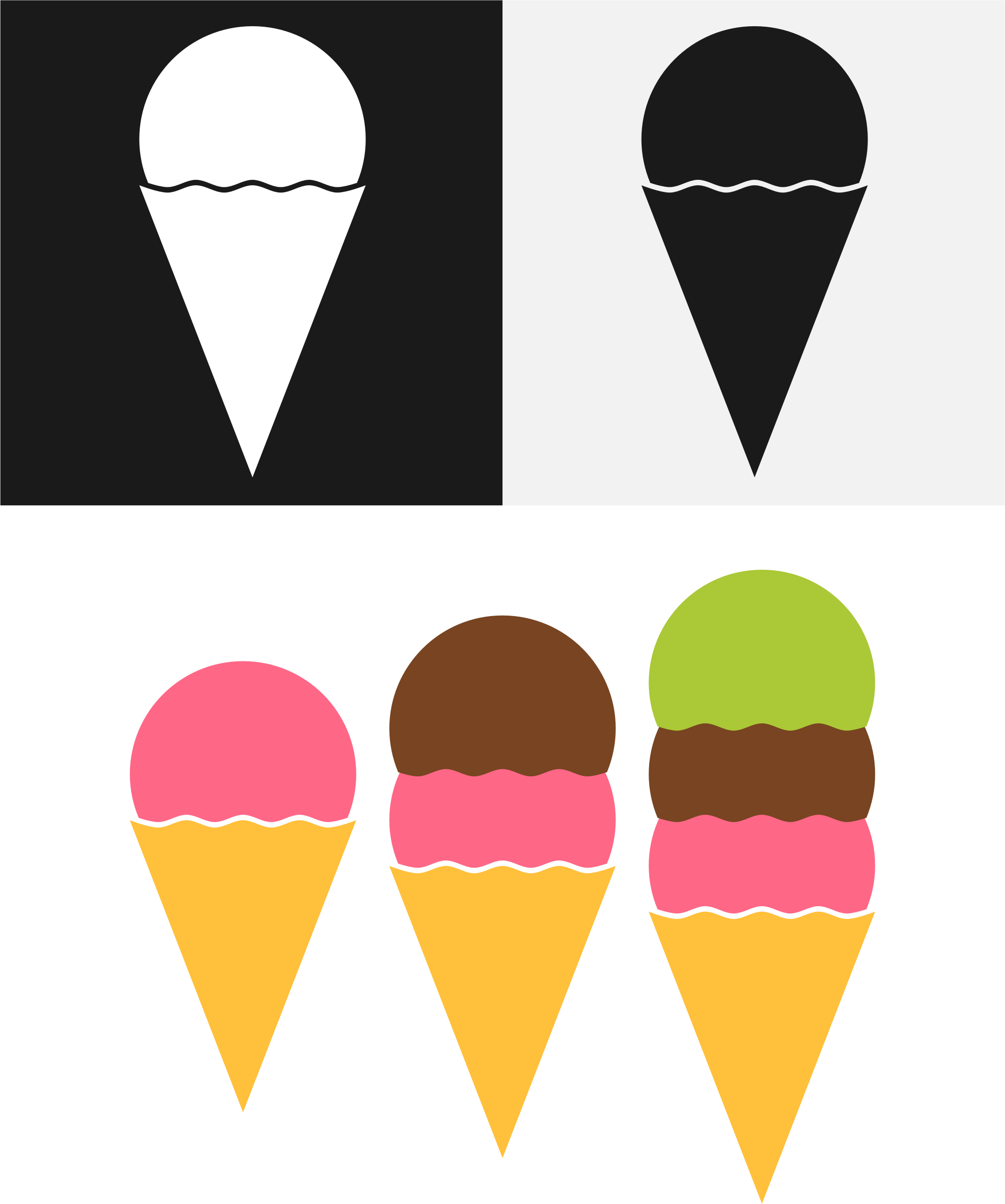 Cone yellow
