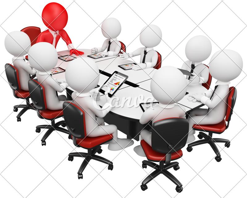 d business meeting. Teamwork clipart free 3d man