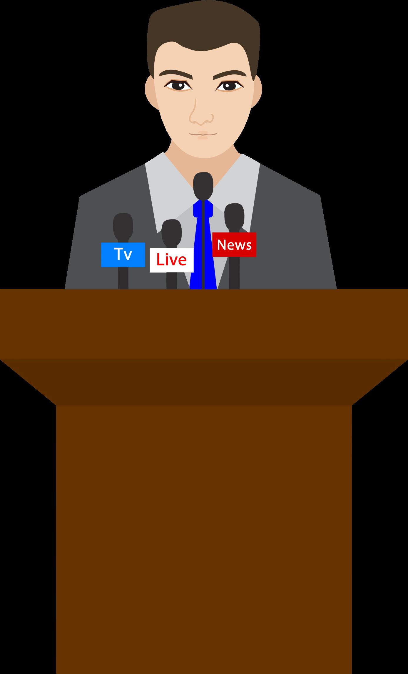 Microphone clipart podium. Man big image png