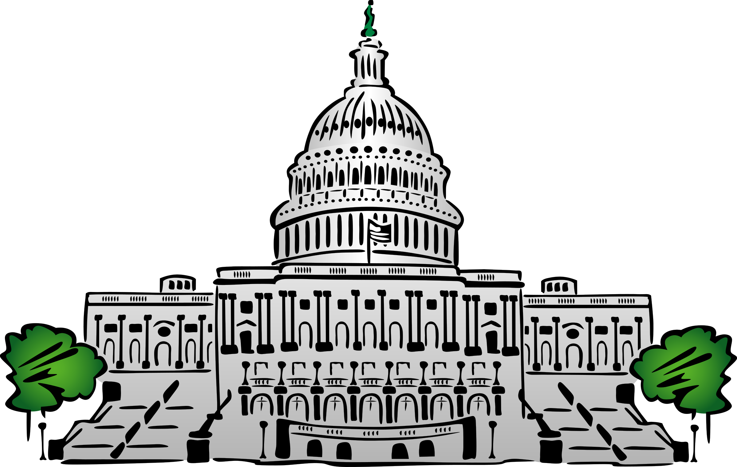 United states clipart cartoon. Government power clip art