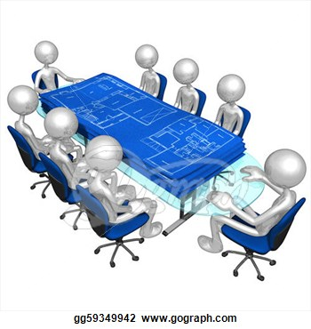 Conference clipart construction meeting. Blueprints panda free images