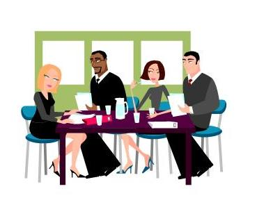 staff meeting clip. Conference clipart employee