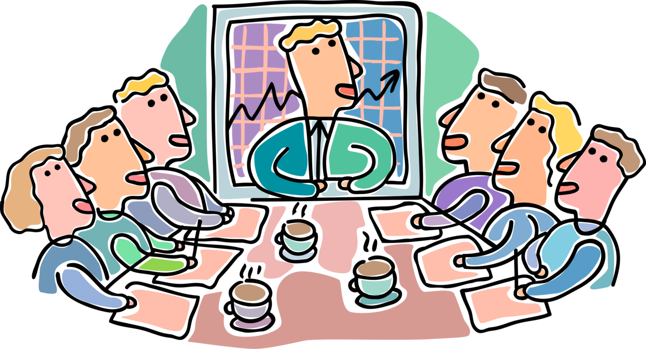 Conference clipart executive meeting. Boardroom executives vector image