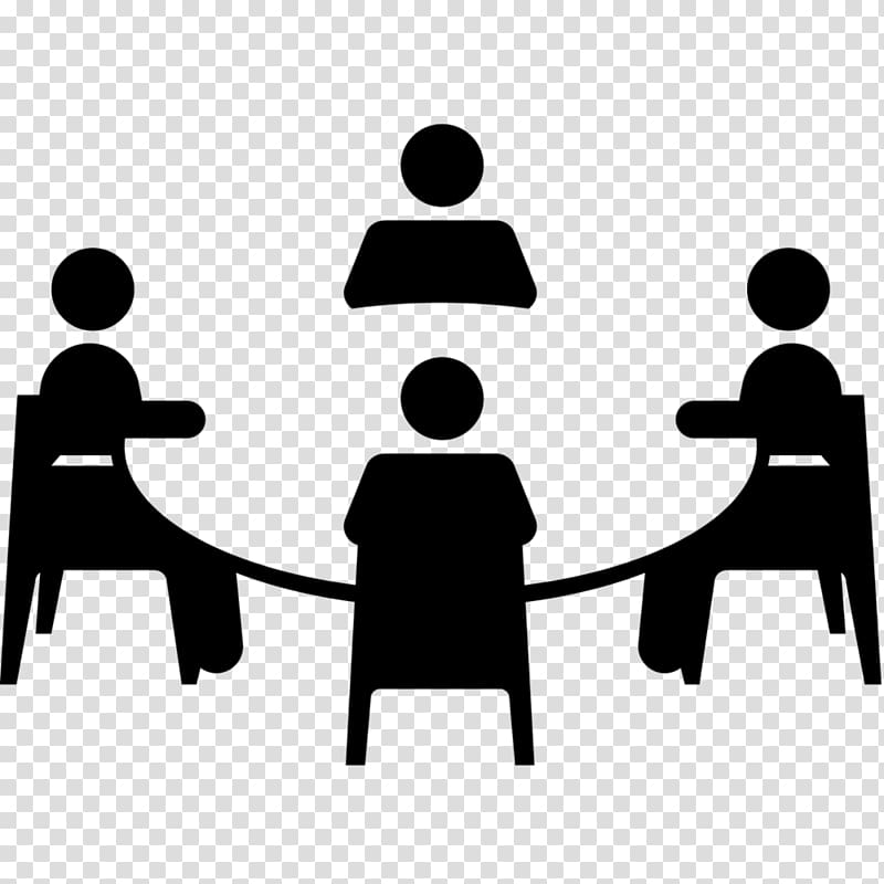 Computer icons working others. Conversation clipart group work