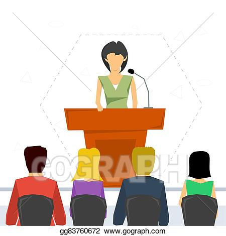 Conference clipart guest speaker. Vector stock public from