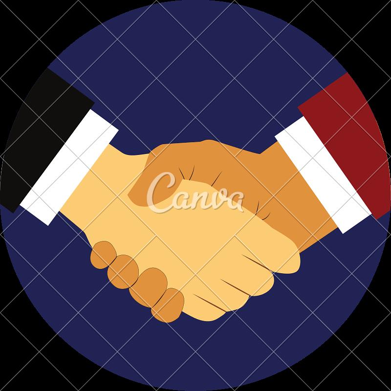 Hand shake isolated icon. Handshake clipart respect