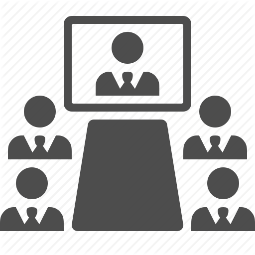 Meeting business black transparent. Conference clipart icon