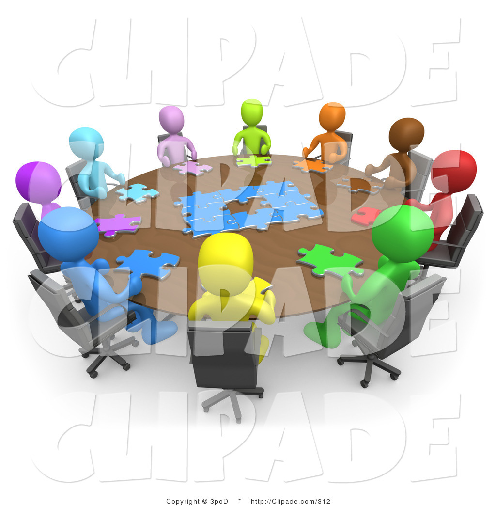 Clip art of a. Puzzle clipart meeting
