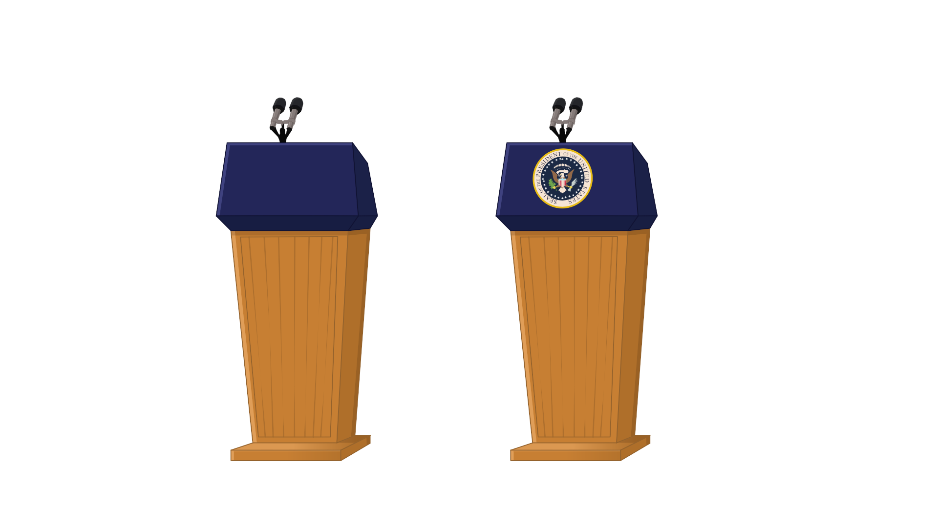 collection of presidential. Election clipart president podium