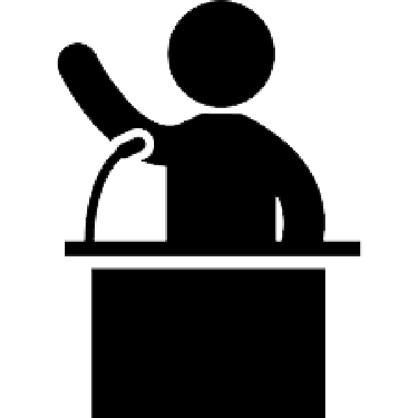 Podium silhouette at getdrawings. Conference clipart lecturn
