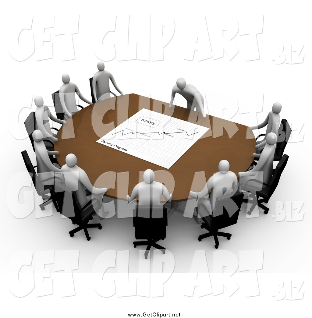 Clip art of a. Manager clipart manager meeting