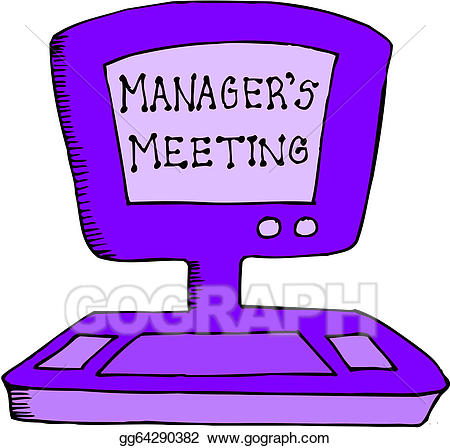 Manager clipart manager meeting. Eps illustration managers vector