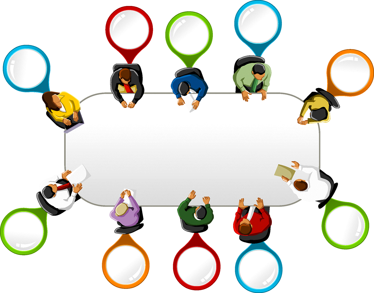 Social meeting idea transprent. Conference clipart media conference