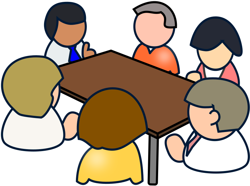 Conference clipart metting. Diverse meeting medium image