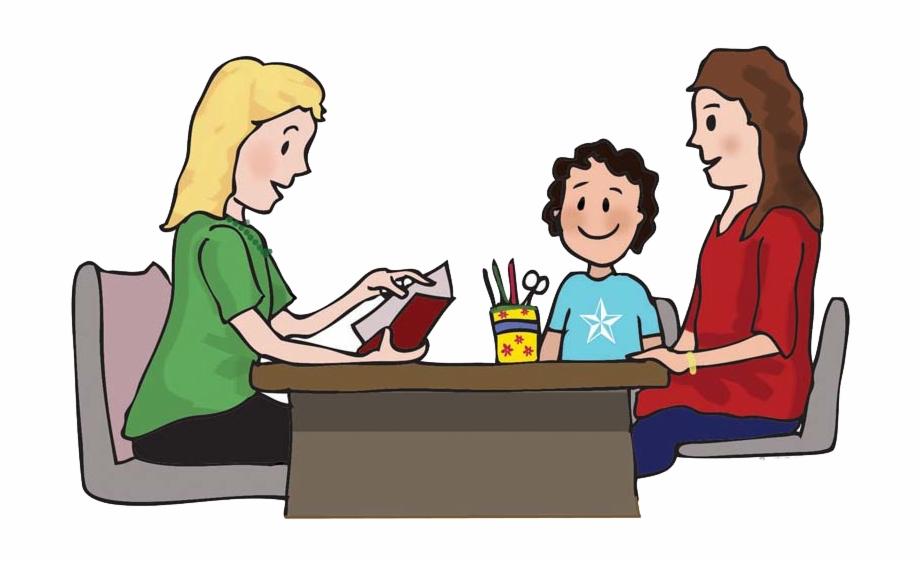 Meeting parent conference . Parents clipart teacher