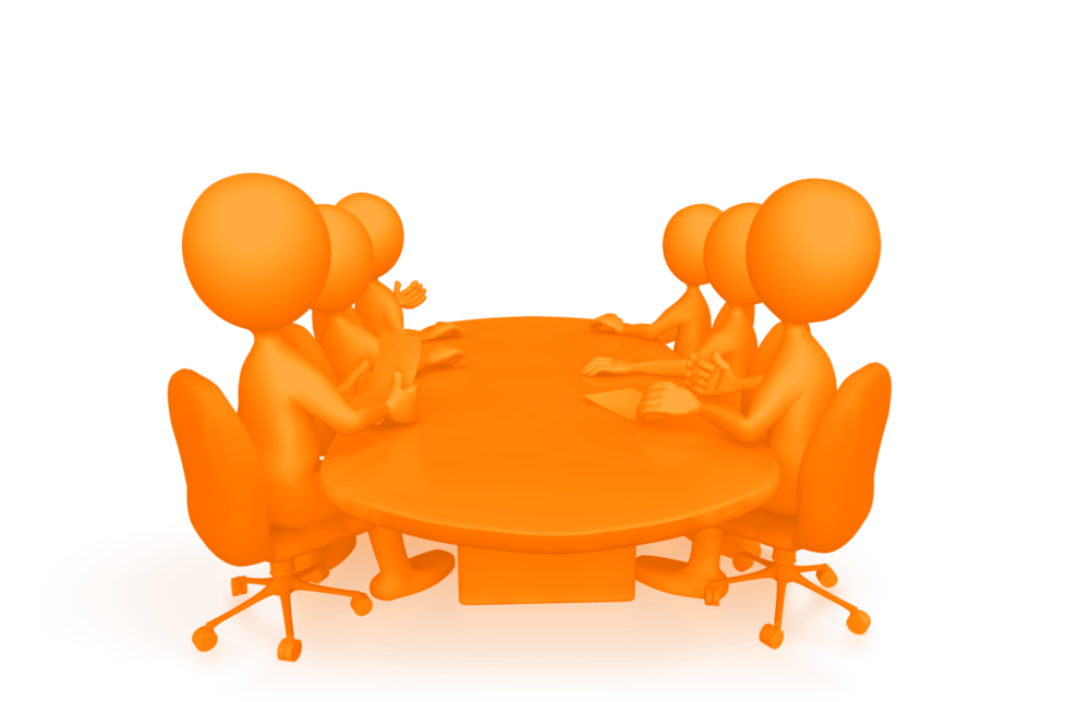 Management success series meetings. Conference clipart presentation meeting