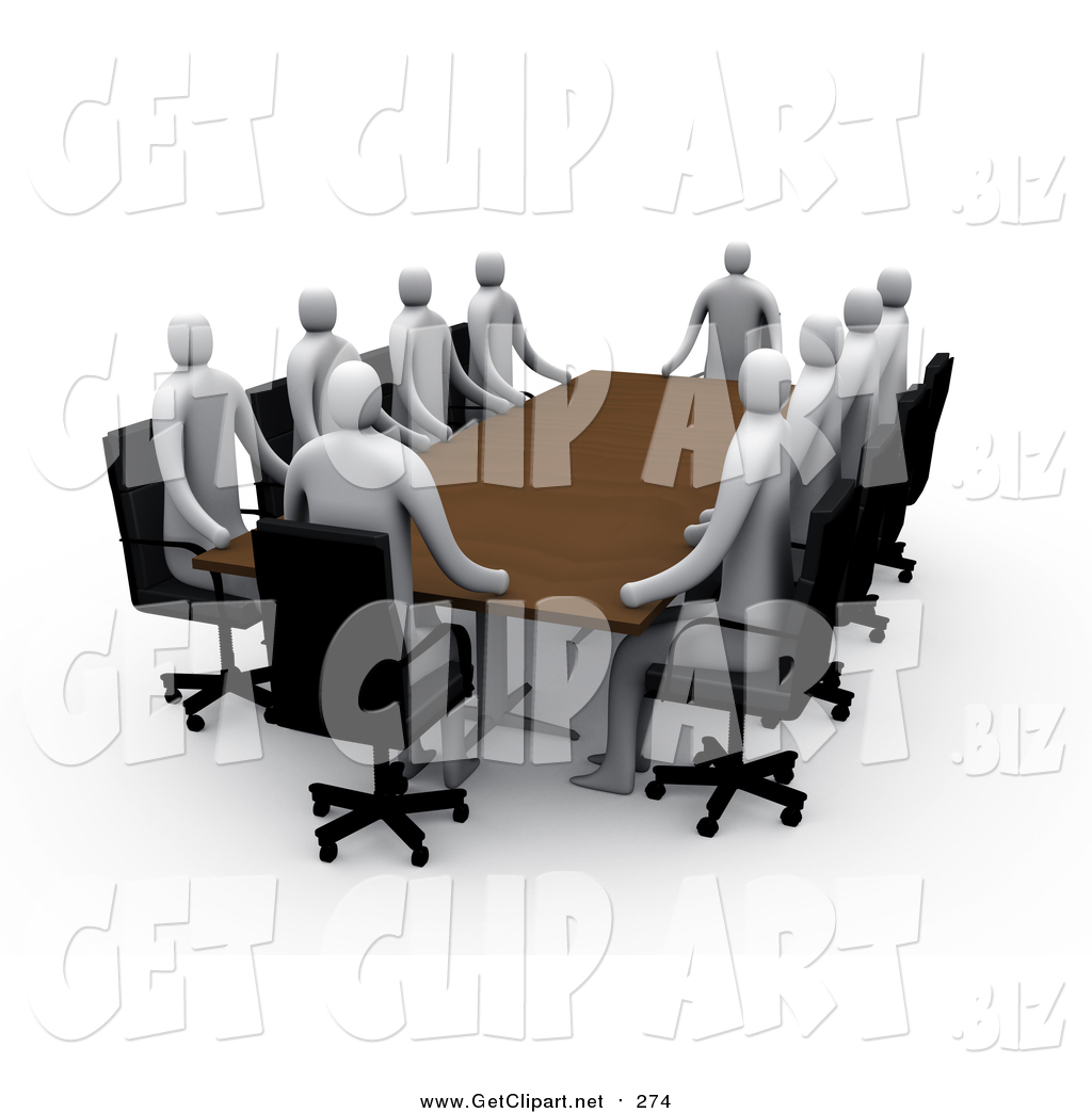 Meeting clipart professional meeting. Clip art of d