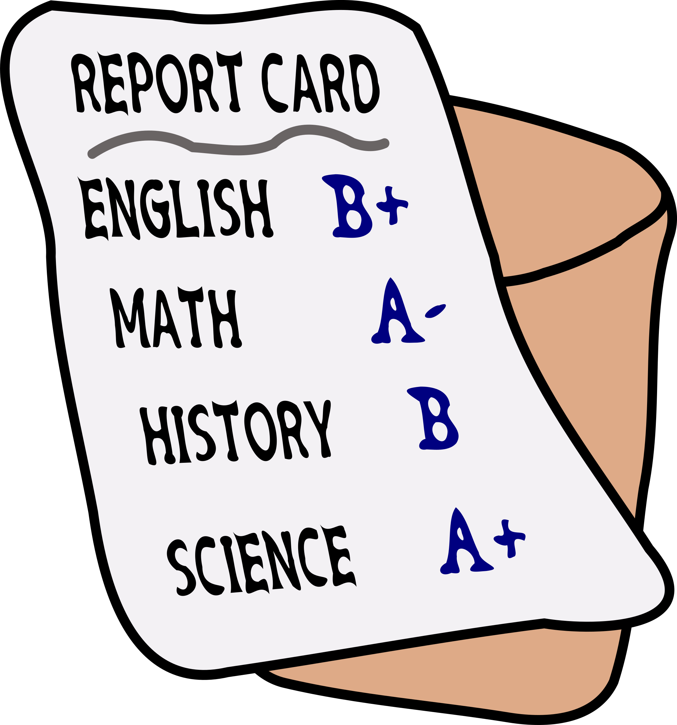 Proud clipart report card.  collection of cards