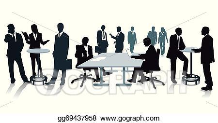 Vector stock staff illustration. Employee clipart meeting
