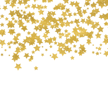 Confetti border png. Gold vectors psd and