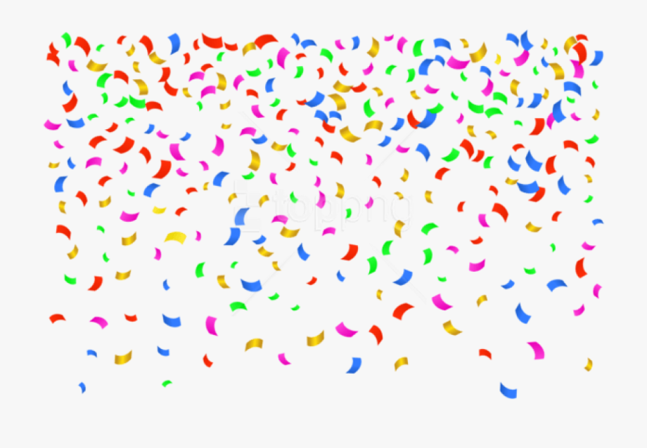 Transparent background png . Confetti clipart