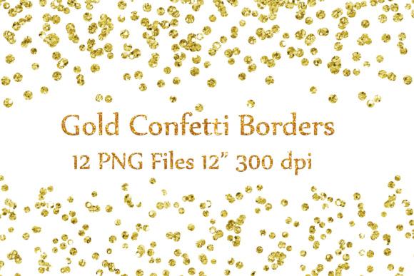 Confetti clipart. Gold borders glitter clipartglitter