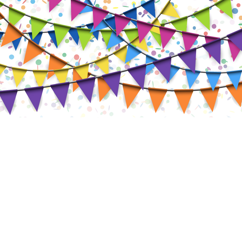 Flag confetti stock photography. Triangular clipart festival banner