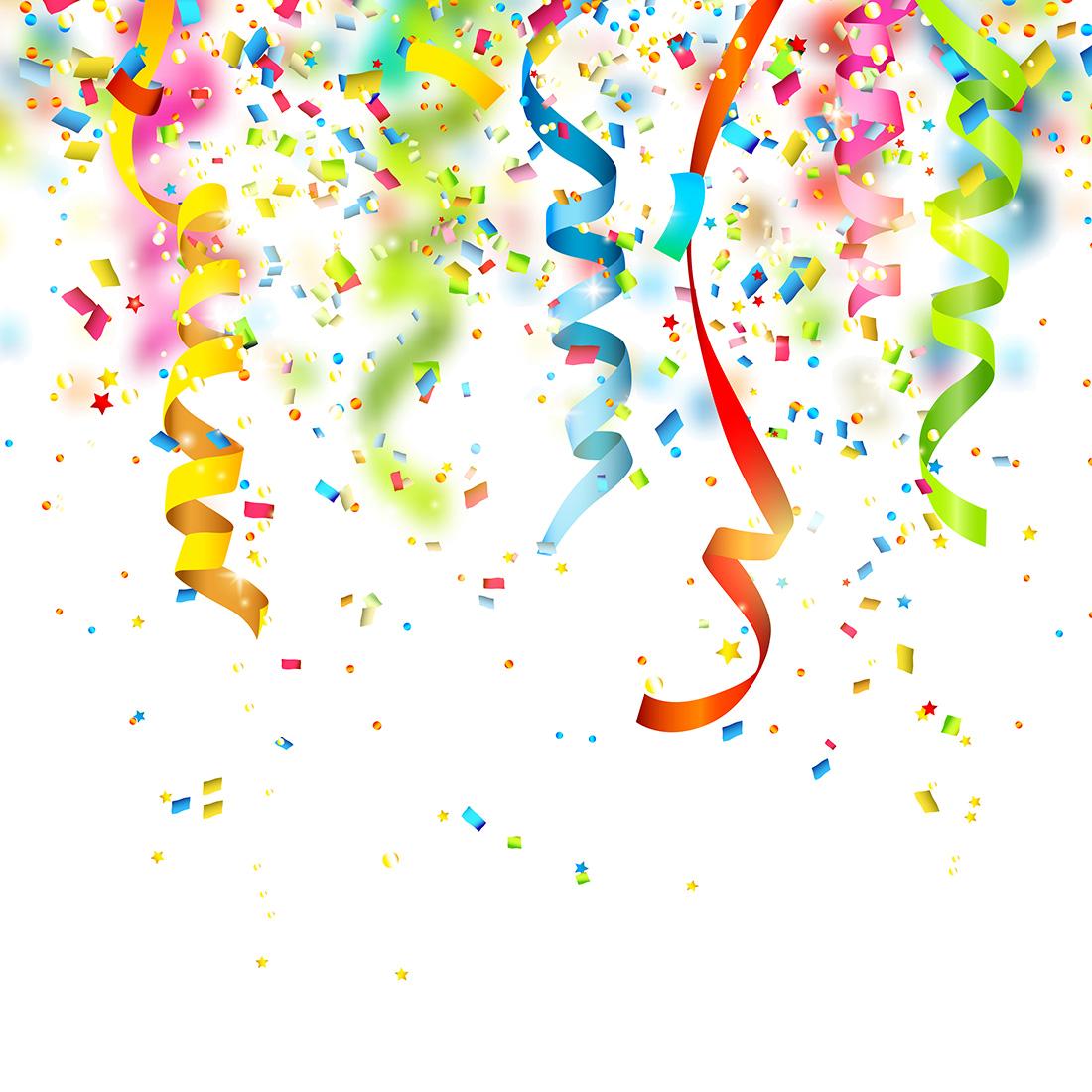 Decoration clipart confetti. Birthday party clip art