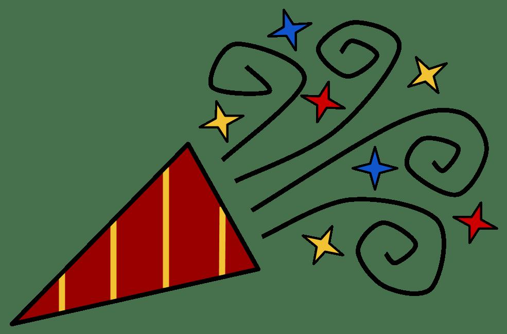 Horn clipart birthday. Blower new year clip