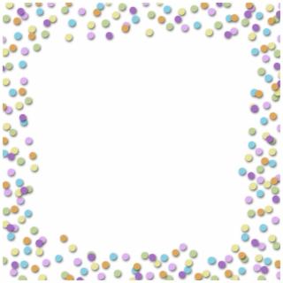 Confetti clipart border transparent. Party