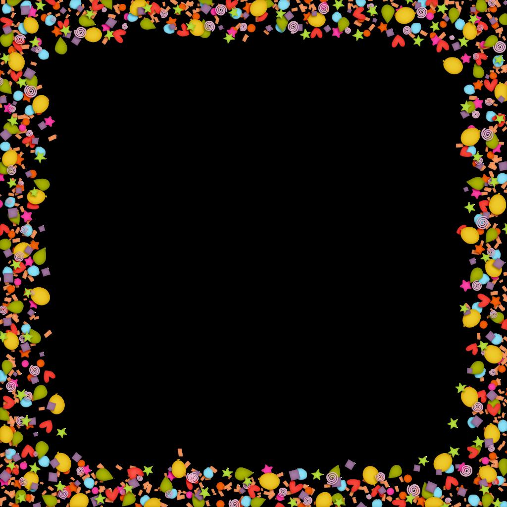 gold borders boardes. Confetti clipart border transparent