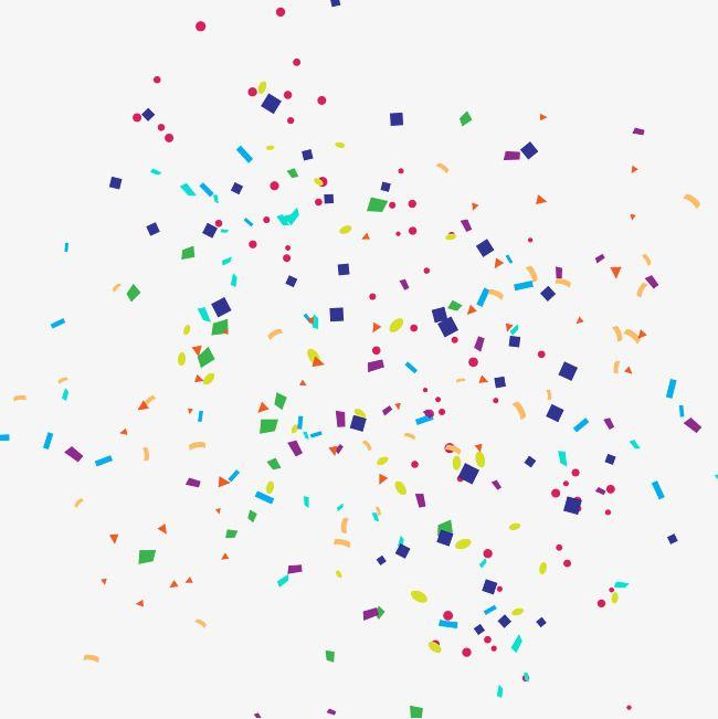 Confetti clipart colored. Decorative pattern png