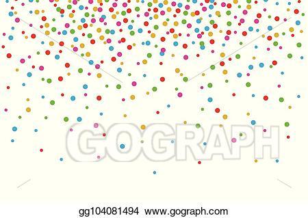Confetti clipart confetti falling. Vector stock colorful on