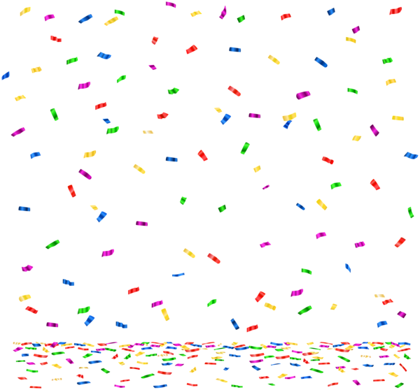 Png clip art image. Decoration clipart confetti