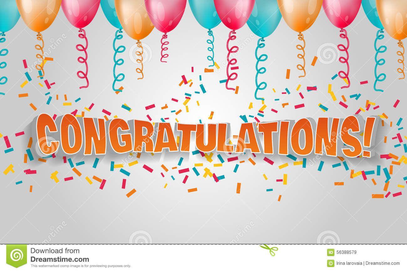 Confetti clipart congratulation. Pencil and in color