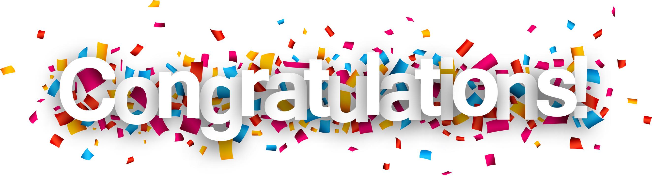 Nyaeyc congratulations paper sign. Confetti clipart congratulation