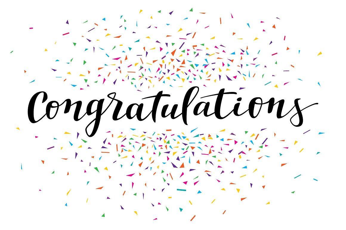 Confetti clipart congratulation. Congratulations white image