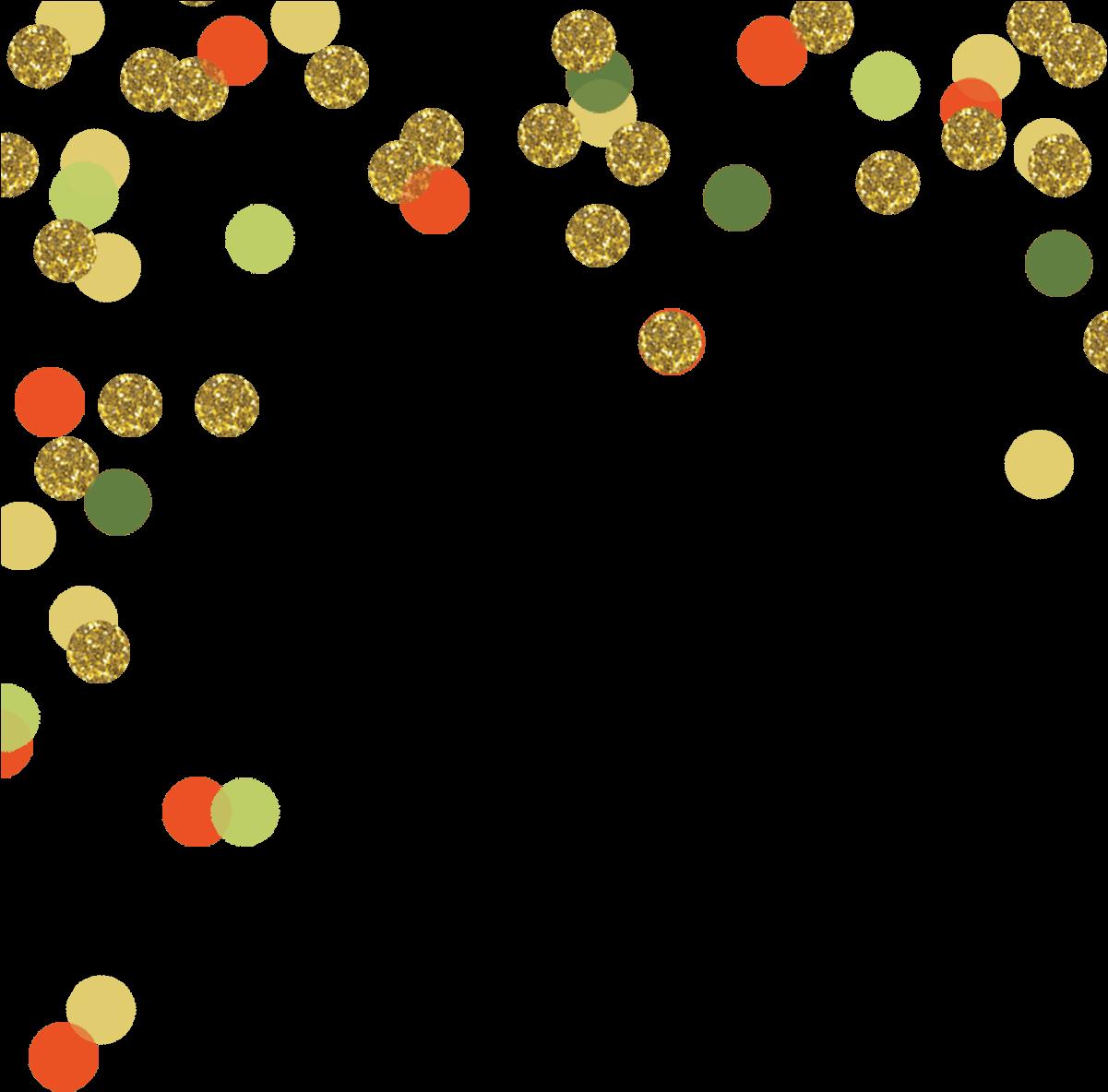 Gold green border bling. Confetti clipart corner