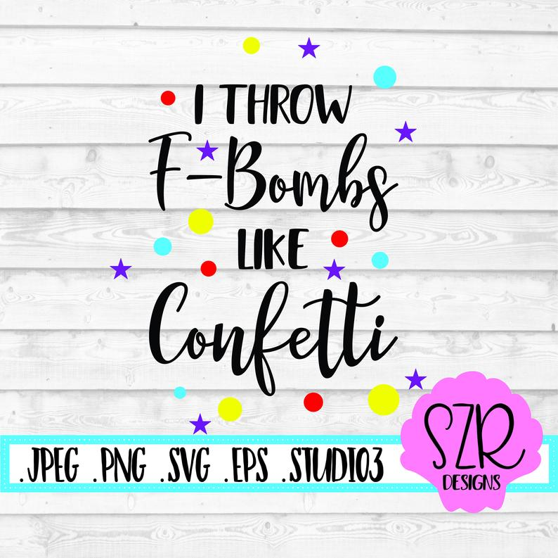 Confetti clipart eps. F word svg png