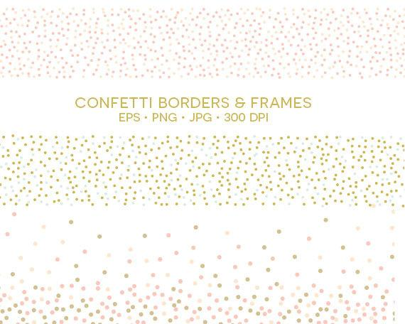Borders and frames png. Confetti clipart eps