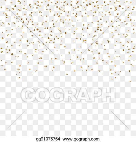 Illustration gold background vector. Confetti clipart eps